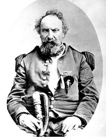 "The Emperor Norton, who declared himself such in 1859, was one of San Francisco's most famous eccentrics. He had such elegance, charm and sophistication that everyone else decided to believe he was Emperor as well. He dressed up in military uniforms, donated by one organization or another, and often had a flower in his lapel donated by a young girl.  From the book ""Eccentrics, Heroes, and Cutthroats"" by Richard Schwartz. Photo: Courtesy Richard Schwartz"
