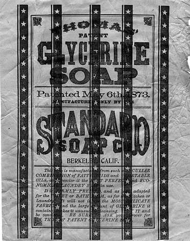 """An actual wrapper from one of the 300 kinds of soap made at Richard Parks Thomas' factory, the Standard Soap Works. From the book """"Eccentrics, Heroes, and Cutthroats"""" by Richard Schwartz. Photo: Courtesy Richard Schwartz"""