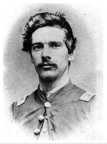 """A photograph of Benjamin Boswell during the Civil War. Despite his Quaker upbringing, when the Civil War broke out Benjamin felt compelled to join the Union Army. He enlisted in August 1861. Boswell's Civil War service was remarkable. He served almost the entire war and was involved in all of the early engagements in the Cumberland Valley and all of the major battles in West Virginia, Tennessee, Kentucky and Georgia. So vigorous was his action at Hunter's Raid, an expedition to Virginia by Union troops under General David Hunter, that he ran down fourteen horses during the course of the battle. On May 19, 1863, in the siege of Vicksburg, Benjamin Boswell was severely wounded by a minnie ball that passed through his body near his heart. The field surgeon did not expect him to live and gave up on him. Boswell somehow summoned the strength to survive, and was soon sent home to recuperate from his wounds. Within three months, he recovered and rejoined his unit. This was Boswell's only furlough during his Civil War service. However, as a result of this chest wound and a subsequent case of sunstroke during the battle of Harper's Ferry, Boswell was plagued by a number of serious medical ailments for the rest of his life. Boswell moved to Berkeley in 1878, leasing a huge tract of land, now all of Albany and much of north Berkeley, from Senator John Paul Jones. From the book """"Eccentrics, Heroes, and Cutthroats"""" by Richard Schwartz. Photo: Courtesy Richard Schwartz"""