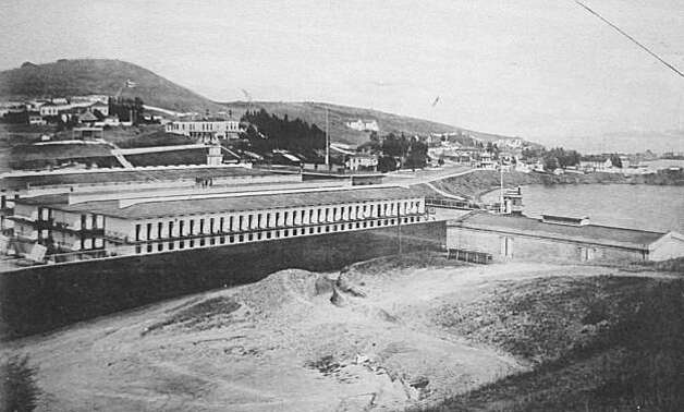 "San Quentin State Prison circa 1888. Robert Lyle was sentenced in 1884 to twenty years in San Quentin for second-degree murder. Lyle was a volatile rancher in Wildcat Canyon who had threatened his neighbor, Pat Sullivan, whom Lyle thought was pasturing cattle on his land. Lyle burned Sullivan's crops with phosphorus and killed a number of his livestock over a period of years. One night he went too far and shot Sullivan in the back as he was returning form Berkeley with Saturday night supplies. The three trials he had cost the county $80,000. Lyle became sick in San Quentin and requested a pardon a number of times. He was discharged in 1896, still maintaining his innocence and looking much older than his fifty-nine years. From the book ""Eccentrics, Heroes, and Cutthroats"" by Richard Schwartz. Photo: Courtesy Richard Schwartz"