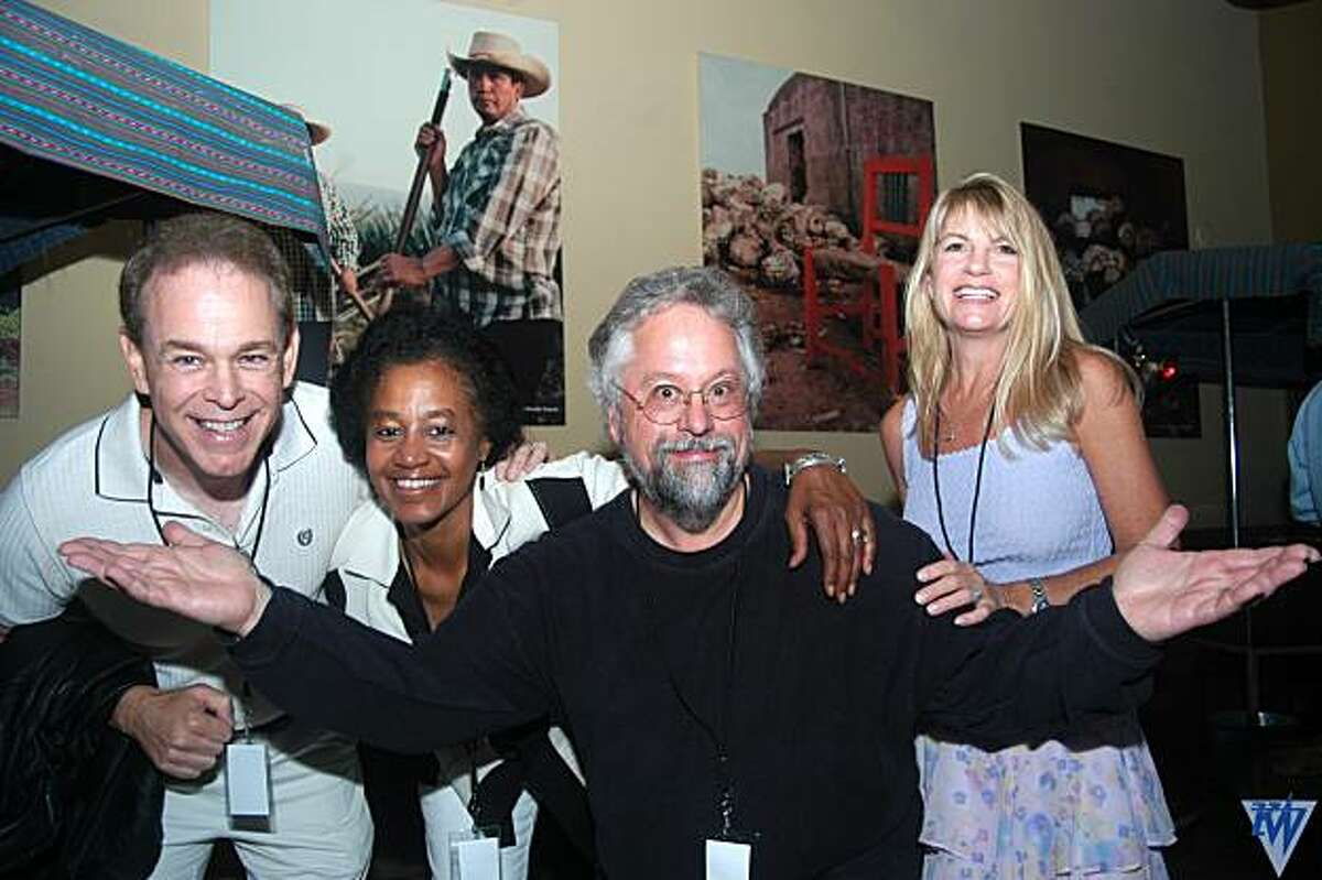 KMEL DJ's reunite: Sonny Joe Fox, Leslie Stoval, Howard Hoffman and Sue Hall.