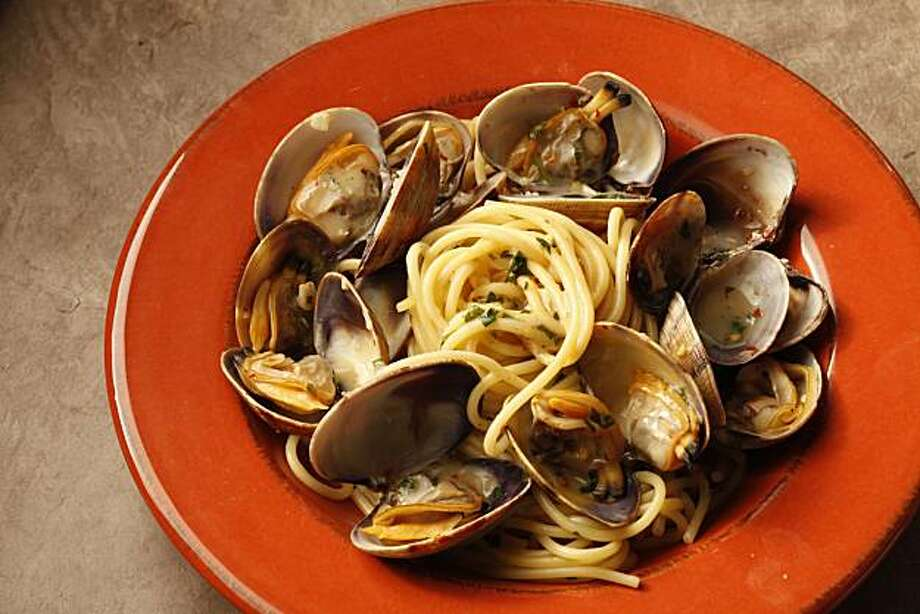 Spaghetti with clams as seen in San Francisco, California, on December 7, 2010. Food styled by Sophie Brickman. Photo: Craig Lee, Special To The Chronicle