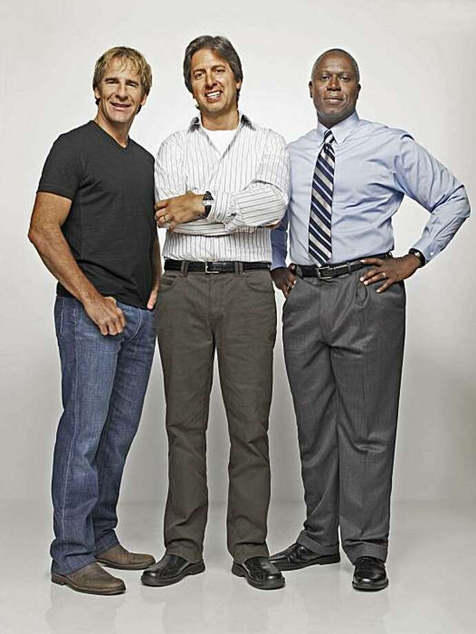 "Scott Bakula, from left, Ray Romano and Andre Braugher are cast members of ""Men Of A Certain Age"" returning to TNT on December 6, 2010. Photo: Art Streiber, TNT"