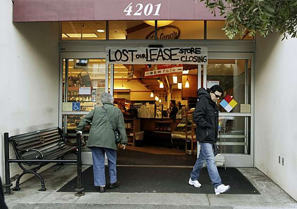 The DeLano's mini-chain of grocery stores is bankrupt and stores are expected to close in roughly two weeks. Here, customers enter the San Francisco, Calif., store on 18th Street on Monday, November 29, 2010.