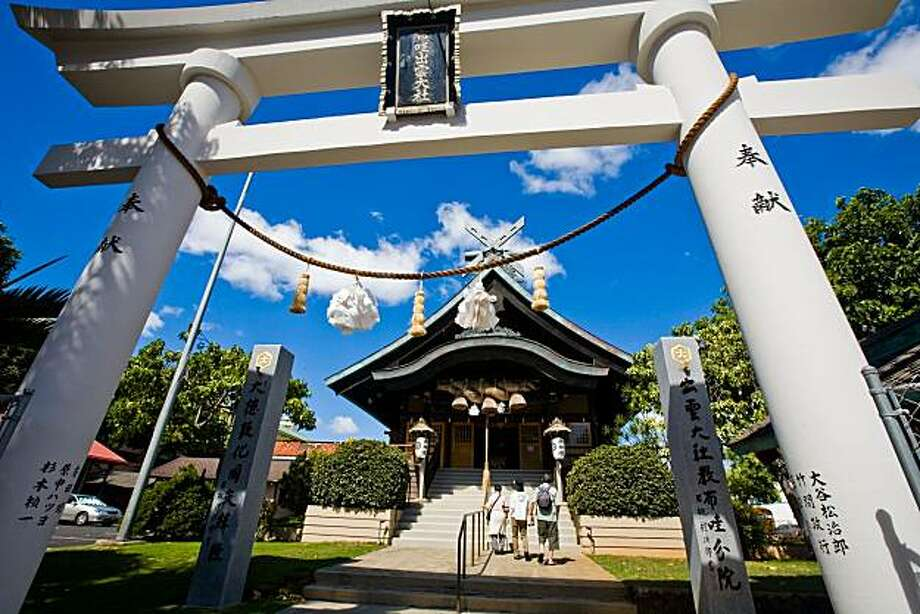 The Izumo Taishako Mission, a Japanese Shinto shrine, is an unexpected oasis  in downtown Honolulu. Photo: Tor Johnson, HTA
