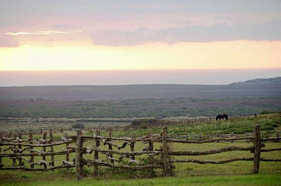 Sunset in upcountry Lana'i is just as beautiful as a beachfront vista. Photo: Jeanne Cooper, Special To SFGate