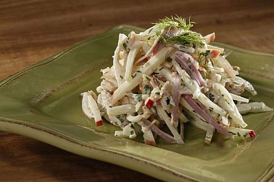 Fennel and Apple Slaw with Turkey in San Francisco, Calif., on November 11, 2009. Food styled by Amanda Gold. Photo: Craig Lee, Special To The Chronicle