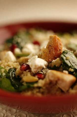 Working Recipe:  Turkey Couscous Salad with Pomegranates. Photo: John Lee, SFC