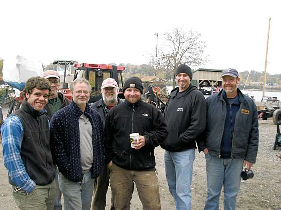The guys who work at Rumery's Boat Yard here Biddeford, ME say there's a lot of other issues concerning folks in this blue collar town where one of the last mills closed this summer. They generally support same sex marraige although some are undecided. Photo: Joe Garofoli, San Francisco Chronicle