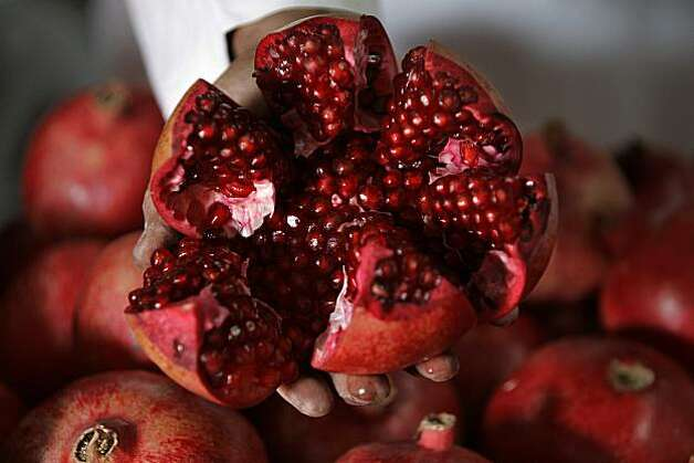 Pomegranates are high in antioxidants according to a sponsored study - but then again so are most fruits. Photo: Rafiq Maqbool, AP