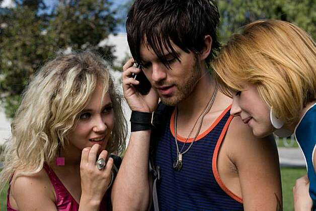 Thomas Dekker as SMITH, Juno Temple as LONDON, and Haley Bennett as STELLA in KABOOM, directed by Gregg Araki. Photo: Marianne Williams, IFC Films