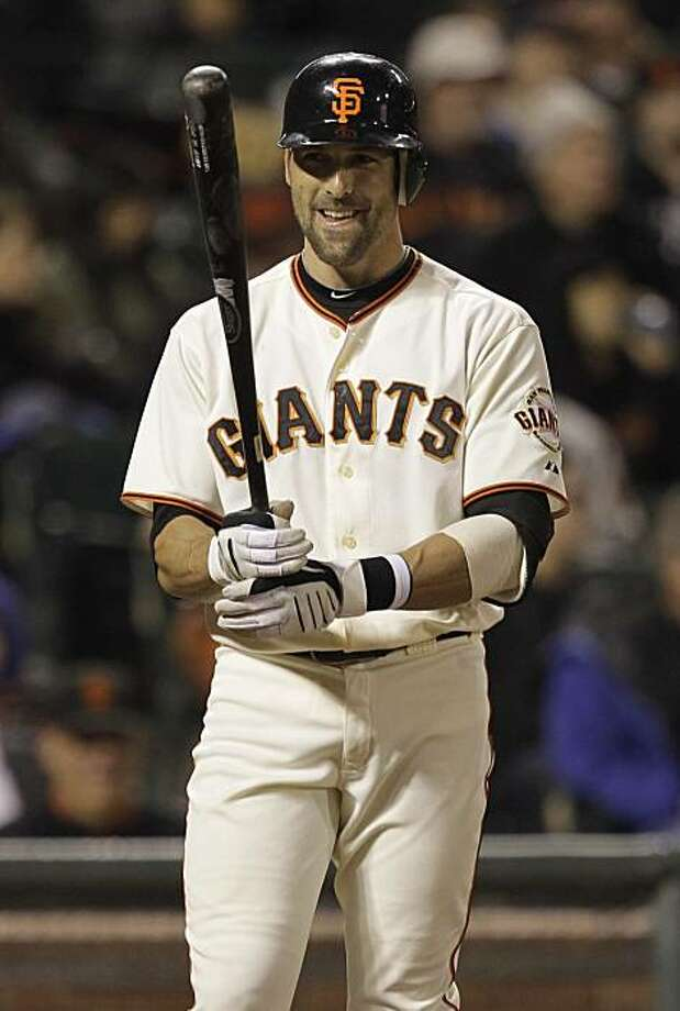 San Francisco Giants' Mark DeRosa in action against the Philadelphia Phillies during a baseball game in San Francisco,  Saturday, April 24, 2010. Photo: Marcio Jose Sanchez, AP