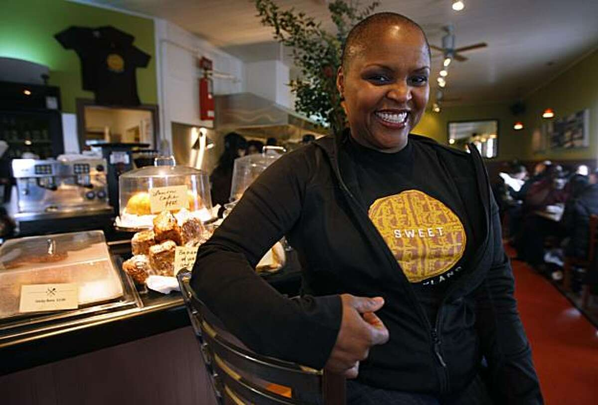 Tanya Holland is seen at her restaurant Brown Sugar on Mandela Parkway in Oakland, Calif., on Thursday, Jan. 21, 2010. She is in negotiation to open a new location in San Francisco's Bayview District.