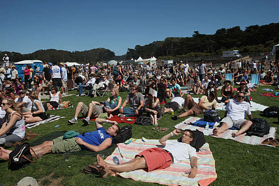 Crowd at the Outside Lands music festival in San Francisco, Calif., on Saturday, August 29, 2009. Photo: Liz Hafalia, The Chronicle