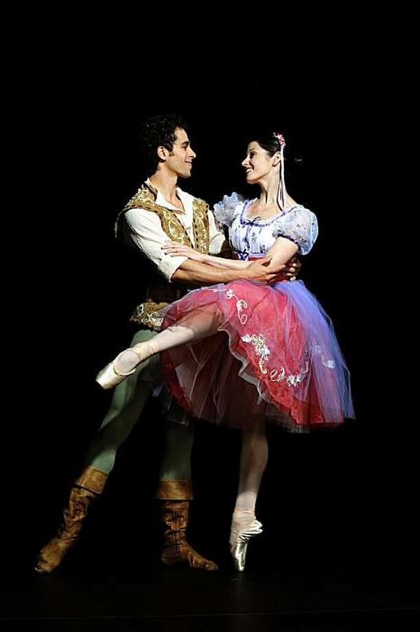 Vanessa Zahorian and Vitor Luiz in Balanchine's Copp?lia. Photo: Erik Tomasson