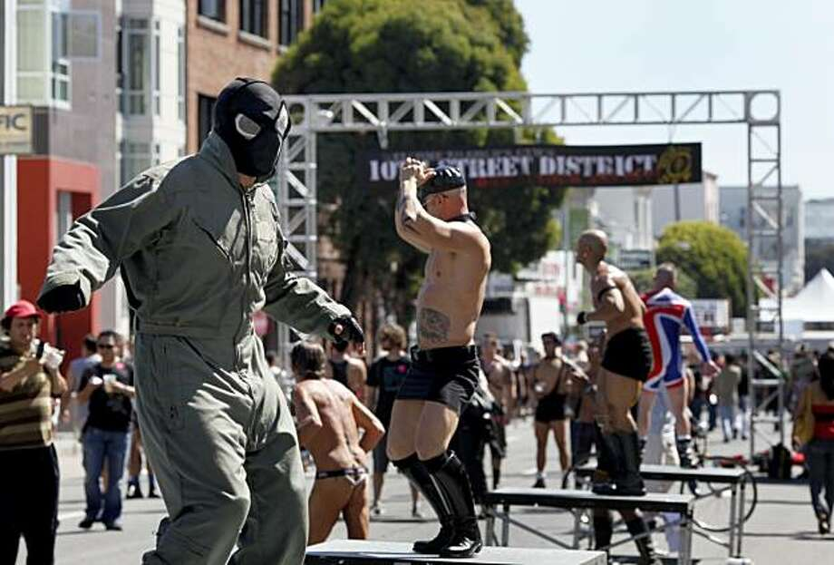 The 10th Street district provided dancers with a street to themselves at the Folsom Street Fair, a world-famous celebration of fetish, leather and S&M, on Sunday in San Francisco. Photo: Brant Ward, The Chronicle