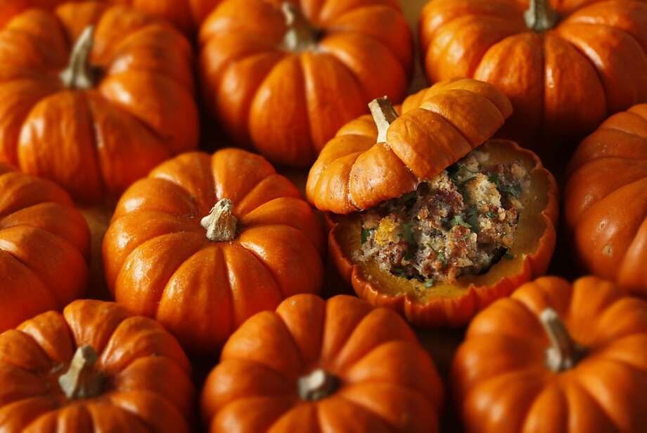 Baked Pumpkins Stuffed with Sausage & Sage in San Francisco, Calif., on October 7, 2009. Photo: Craig Lee, Special To The Chronicle