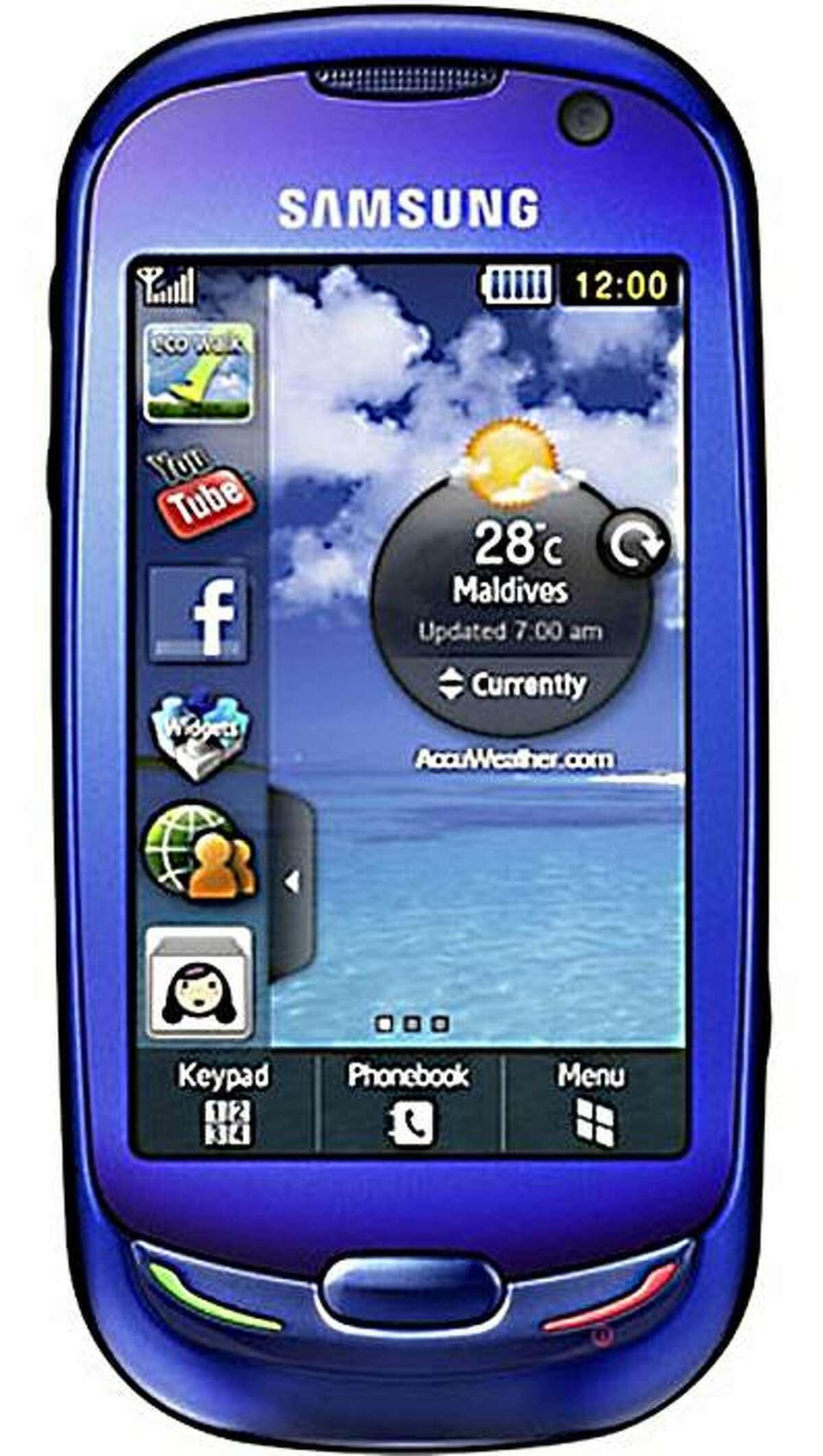 Samsung GT s7550 Blue Earth phone