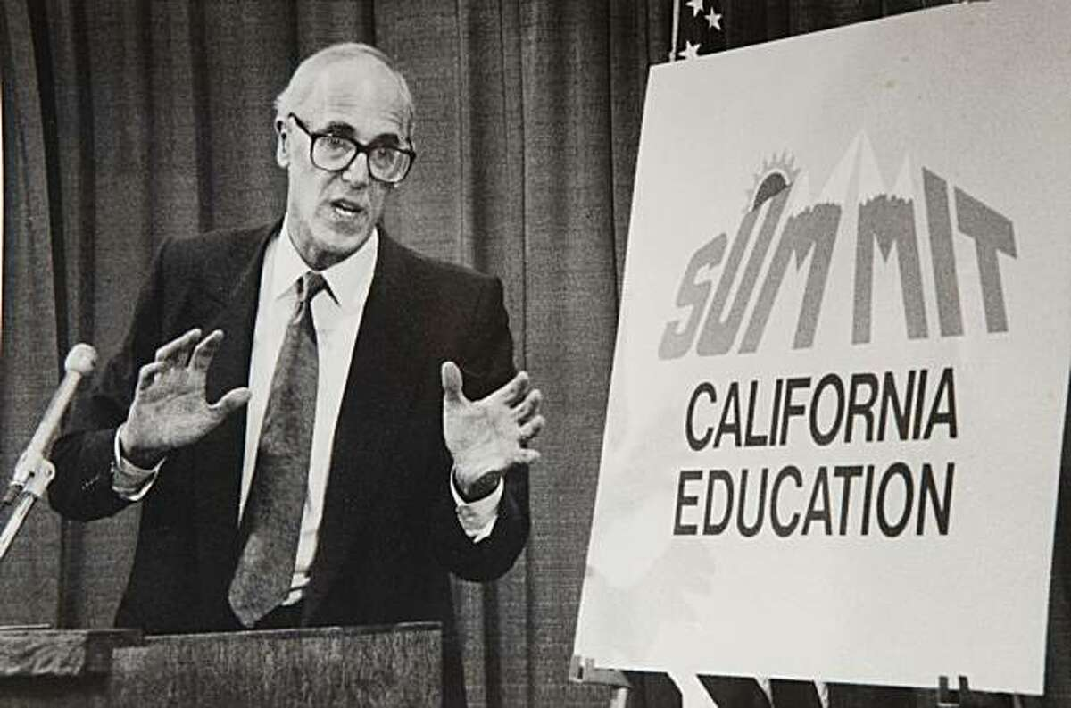 FILE - In this Oct. 3, 1989 file photo shows former State schools chief Bill Honing. Gov. Jerry Brown has named Honing to the State Board of Education, Wednesday, Jan. 5, 2011. Honig served three terms as Superintendent of Public Instruction, was convicted of conflict-of-interest charges in 1993.