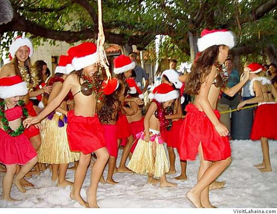 Lahaina's famed Banyan Tree is a centerpiece ofChristmas celebrations on Maui. Photo: VisitLahaina.com