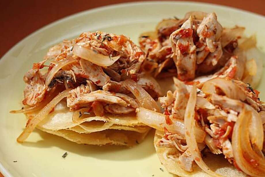 Chicken Tinga as seen in San Francisco, Calif., on November 3, 2010. Food styled by Lindsay Patterson. Photo: Craig Lee, Special To The Chronicle
