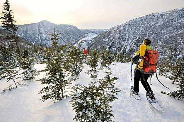A snowshoe trek in the Chic Choc Mountains. Photo: Margo Pfeiff, Special To The Chronicle