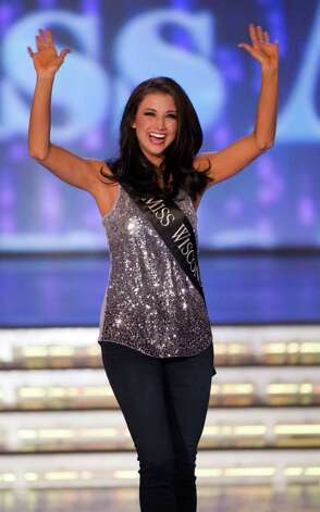 Miss Wisconsin Laura Kaeppeler competes during the 2012 Miss America Pageant Saturday Jan. 14, 2012 at The Planet Hollywood Resort & Casino in Las Vegas. Kaeppeler went on to win the contest. Photo: AP