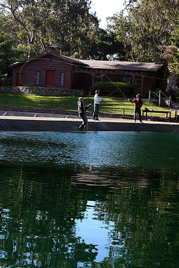 The Anglers Lodge as people practice throwing their lines at Golden Gate Park in San Francisco, Calif., on Monday, May 24, 2010. Photo: Liz Hafalia, The Chronicle