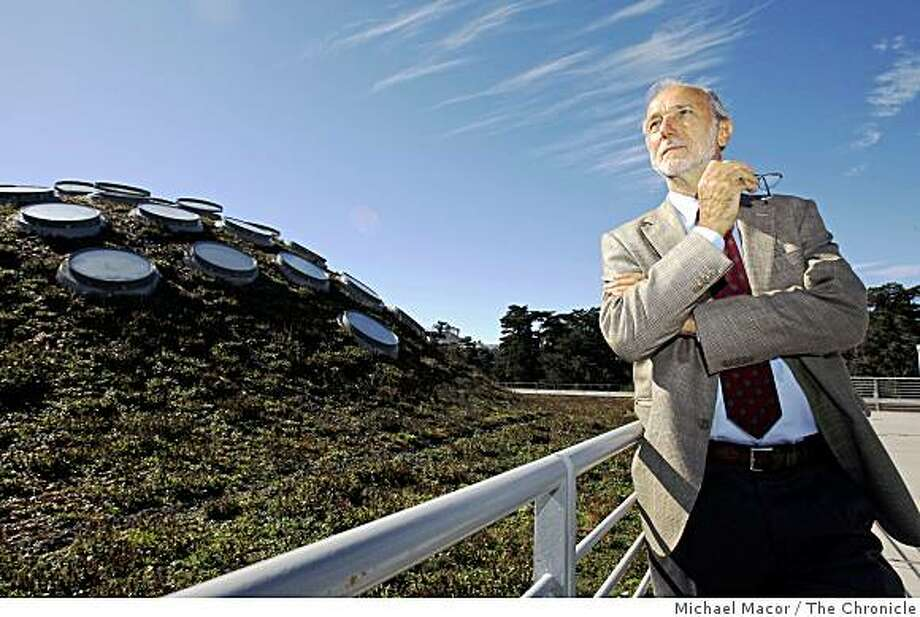 Renzo Piano, the architect of the California Academy of Sciences in Golden Gate Park in San Francisco, Calif. is in town to survey the completed project, Thursday Sept. 25, 2008. Piano on the living roof of the building. Photo: Michael Macor, The Chronicle