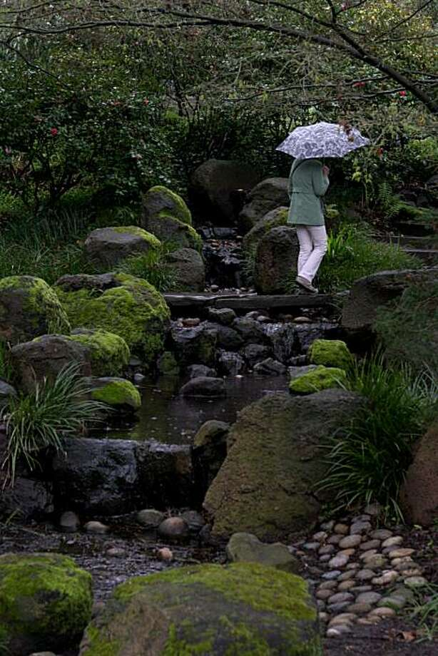 Jennifer Gertson, from Maryland, walks through the Botanical Gardens in Golden Gate Park in San Francisco, Calif. Wednesday March 3, 2010 Photo: Jana Asenbrennerova, The Chronicle