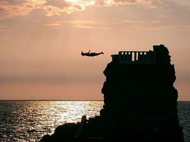 A cliff diver leaps into the Pacific. Photo: Mazatlan Tourism Board