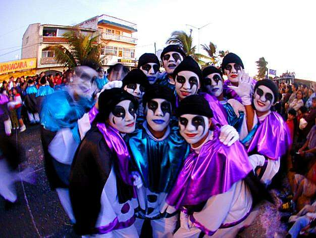 Revelers celebrate Carnaval in Mazatlan. Photo: Ricardo Urquijo