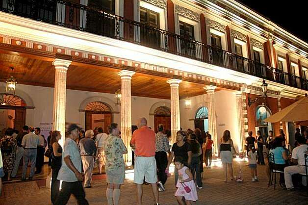 Mazatlan's old colonial center has been undergoing a transformation since 2002. Reigning over Plazuela Machado is the Angela Peralta Theater, originally the Teatro Rubio, which was renamed after a famous 19th century Mexican diva after its restoration in1992. Photo: Christine Delsol, Special To SFGate