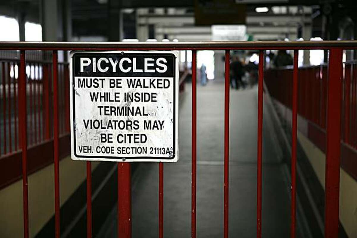 Picycle - 3:49 PM - San Francisco. While on assignment, I stumbled across this humorous sign in the Transbay Terminal on 1st and Market and couldn't resist shooting it. After reading it, all I could imagine were bikes with pies for wheels. Camera settings: Canon 5D, ISO 400, 1/320, f2.8, 58mm