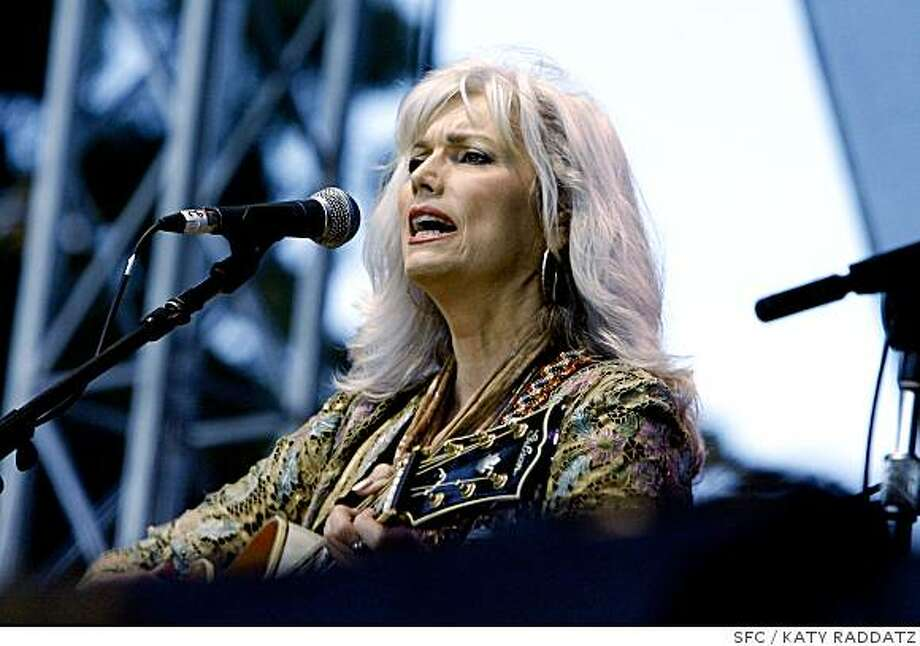 Emmylou Harris at the Hardly Stricly Bluegrass Festival in Golden Gate Park Oct. 7 2007 Photo: KATY RADDATZ, SFC