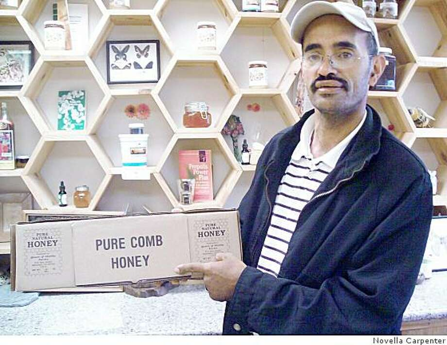 Khaled Almaghafi is a beekeeper, swarm collector and honey seller in Oakland. Photo: Novella Carpenter