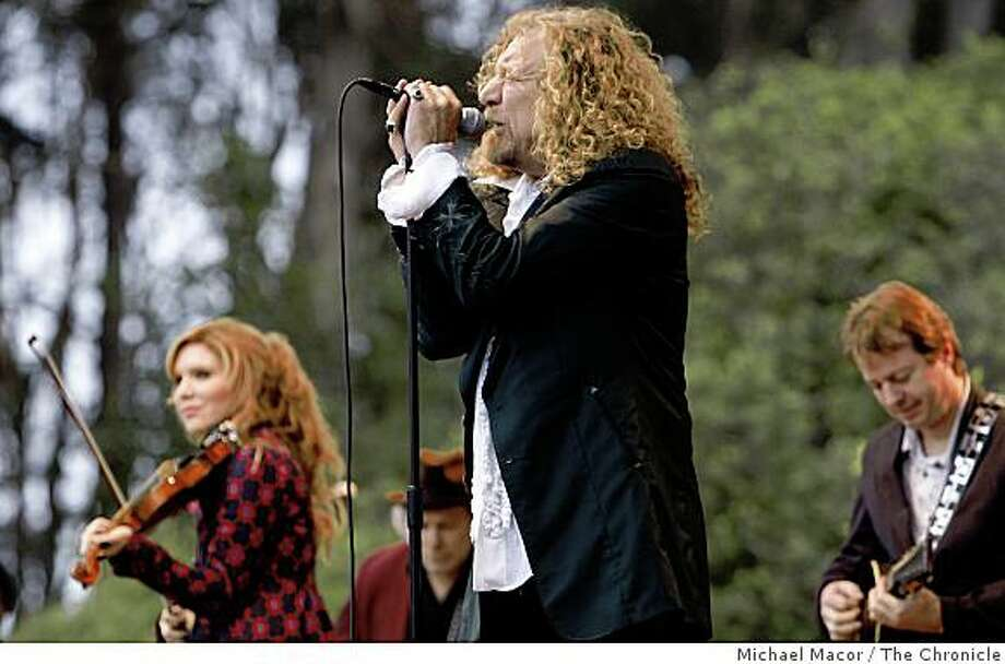 Alison Krauss and Robert Plant play the Banjo Stage on day one of the Hardly Strictly Bluegrass Festival in San Francisco, Calif. on Friday Oct. 3, 2008 Photo: Michael Macor, The Chronicle