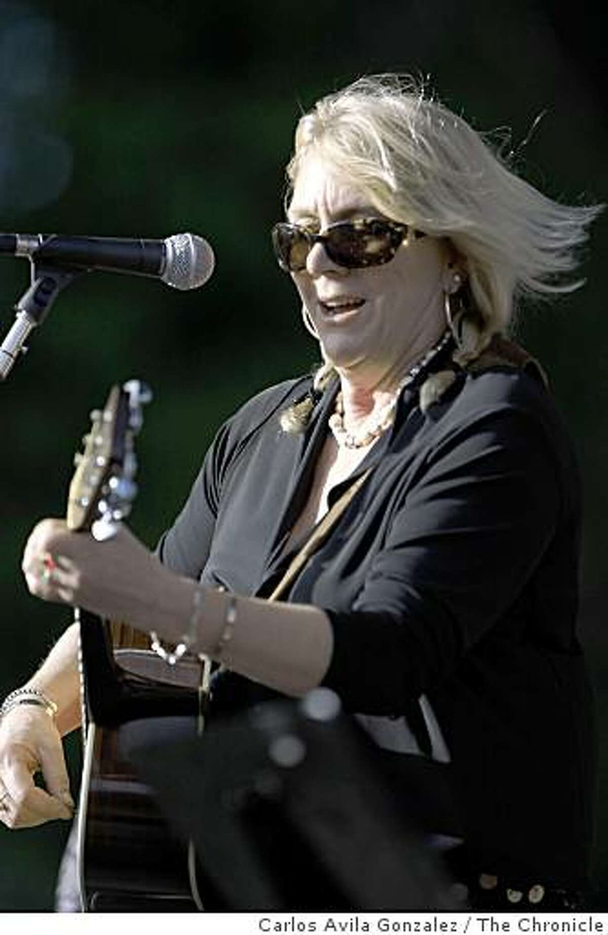 Pegi Young, playing on the Arrow Stage during the final day of the eighth Hardly Strictly Bluegrass Festival in San Francisco, Calif., on Sunday, October 5, 2008.