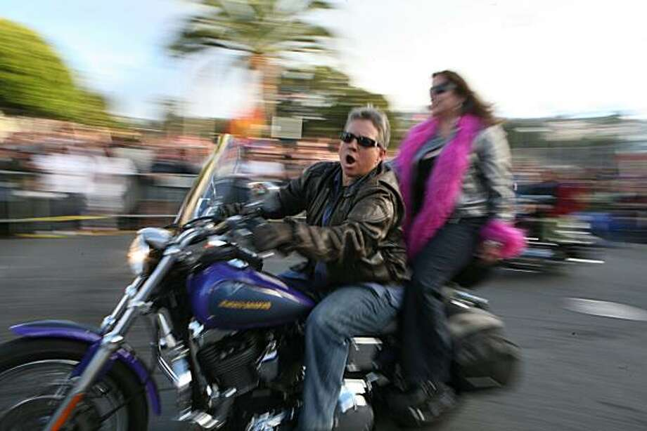Dykes on Bikes leads off the 18th annual Dyke March up 16th Street from Dolores Park in San Francisco on Saturday. Photo: Kat Wade, Special To The Chronicle