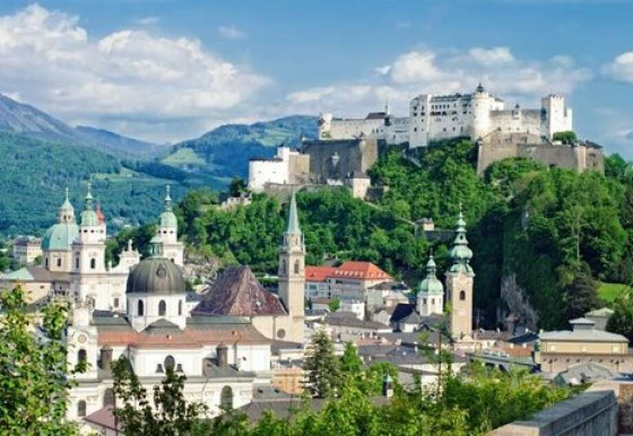 A view of the Old City takes in several Baroque churches and the medieval Hohensalzburg fortress. Photo: Iona, Shutterstock