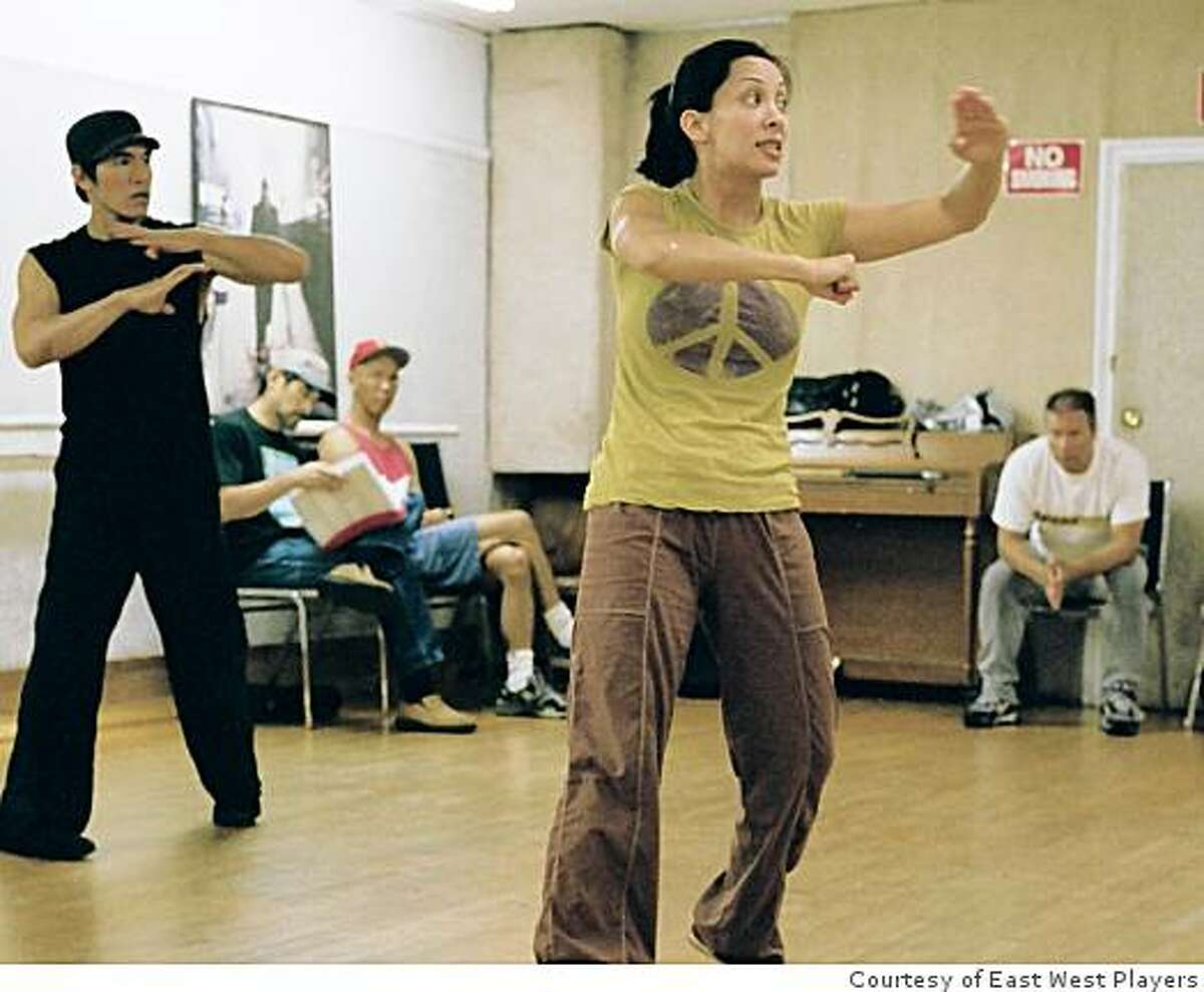 """Feel My Flow: Diana Lee Inosanto leads the cast of """"Be Like Water"""" in a runthrough of her martial arts choreography."""