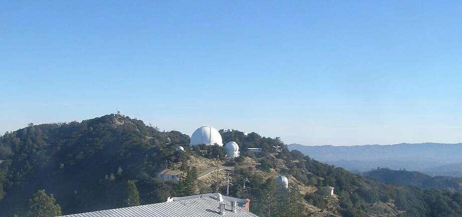 Lick Observatory at 4,209-foot Mount Hamilton on Monday morning. Photo: Courtesy UC