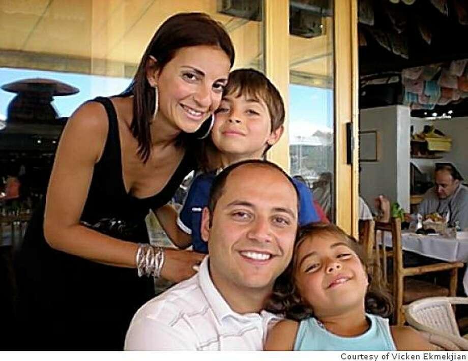 Vicken Ekmekjian with his family in Tiburon. Photo: Courtesy Of Vicken Ekmekjian