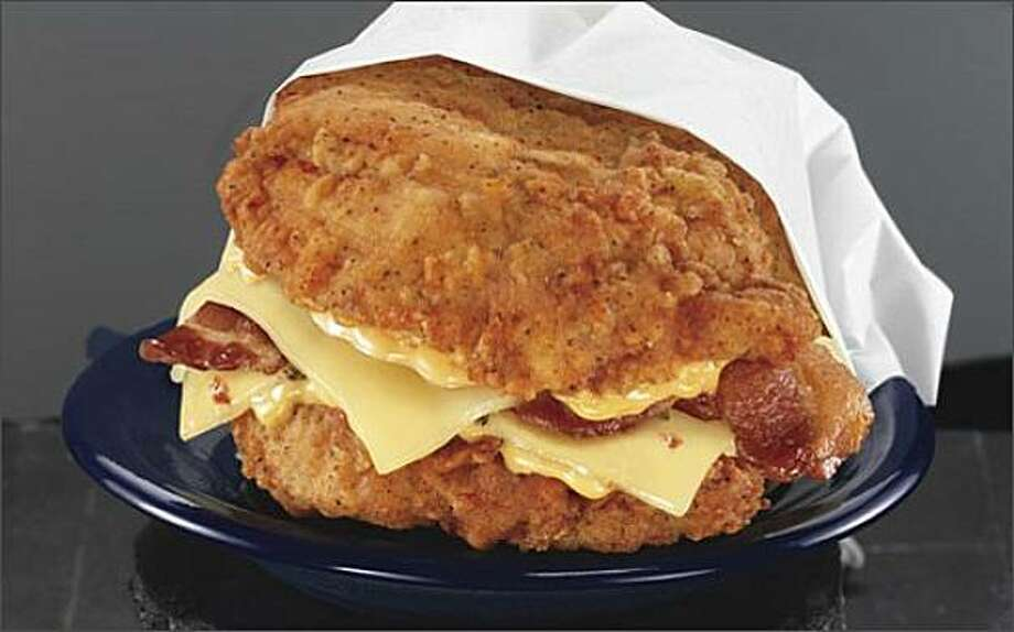The new KFC Double Down sandwich Photo: Kfc