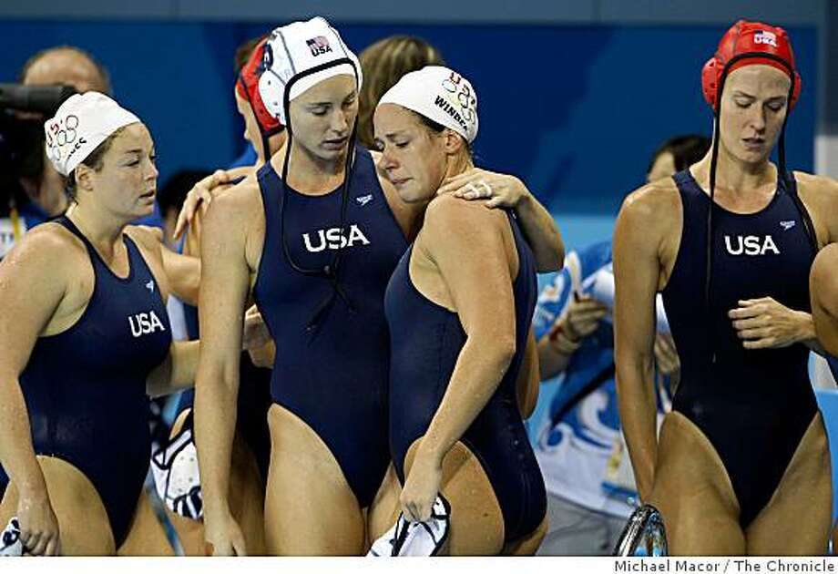 Brittany Hayes, Lauren Wenger, Elsie Windes and Elizabeth Armstrong fell just short of the gold medal losing to the Netherlands, but still capture the siver. The USA women's water polo team takes on the team from the Nethelands in the gold medal match of the 2008 Olympics in Beijing, China, Thursday  Aug. 21, 2008. Photo: Michael Macor, The Chronicle