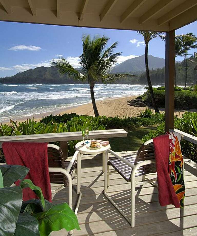 A 48-condo complex on Kaua'i's lush North Side, the Hanalei Colony Resort offers savings on summer stays of at least two nights. Photo: Hanalei Colony Resort