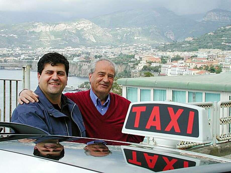 Taxi drivers Carmello Monetti and his son Raffaele take people on tours of Italy's Amalfi Coast from Sorrento. Photo: Rick Steves