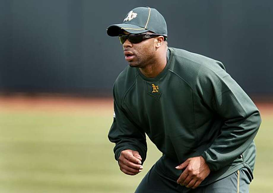 The Oakland Athletics Rajai Davis practiced his running in the outfield Wednesday February 24, 2010. Scenes from the San Francisco Giants and Oakland Athletics spring training campaigns of 2010 in Scottsdale and Phoenix, Arizona. Photo: Brant Ward, The Chronicle