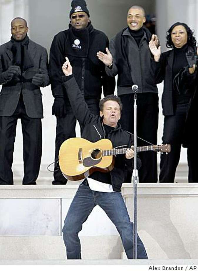 "John Mellencamp performs during ""We Are One: Opening Inaugural Celebration at the Lincoln Memorial"" in Washington, Sunday, Jan. 18, 2009. Photo: Alex Brandon, AP"
