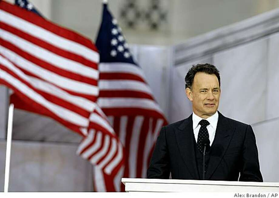 "Actor Tom Hanks speaks during ""We Are One: Opening Inaugural Celebration at the Lincoln Memorial"" in Washington, Sunday, Jan. 18, 2009. Photo: Alex Brandon, AP"